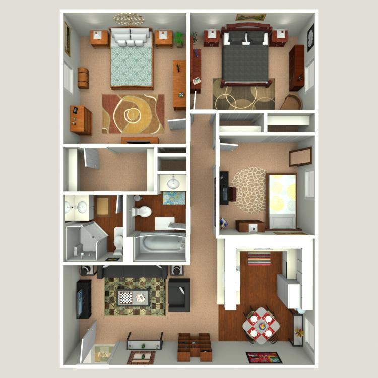 Floor plan image of Caladesi A