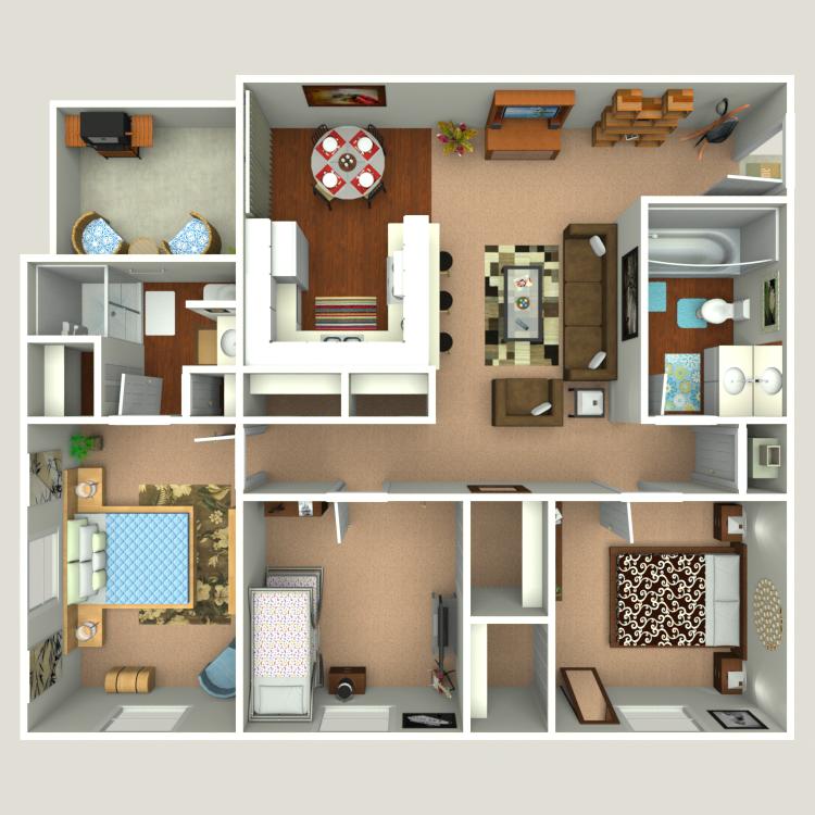 Floor plan image of Caladesi B