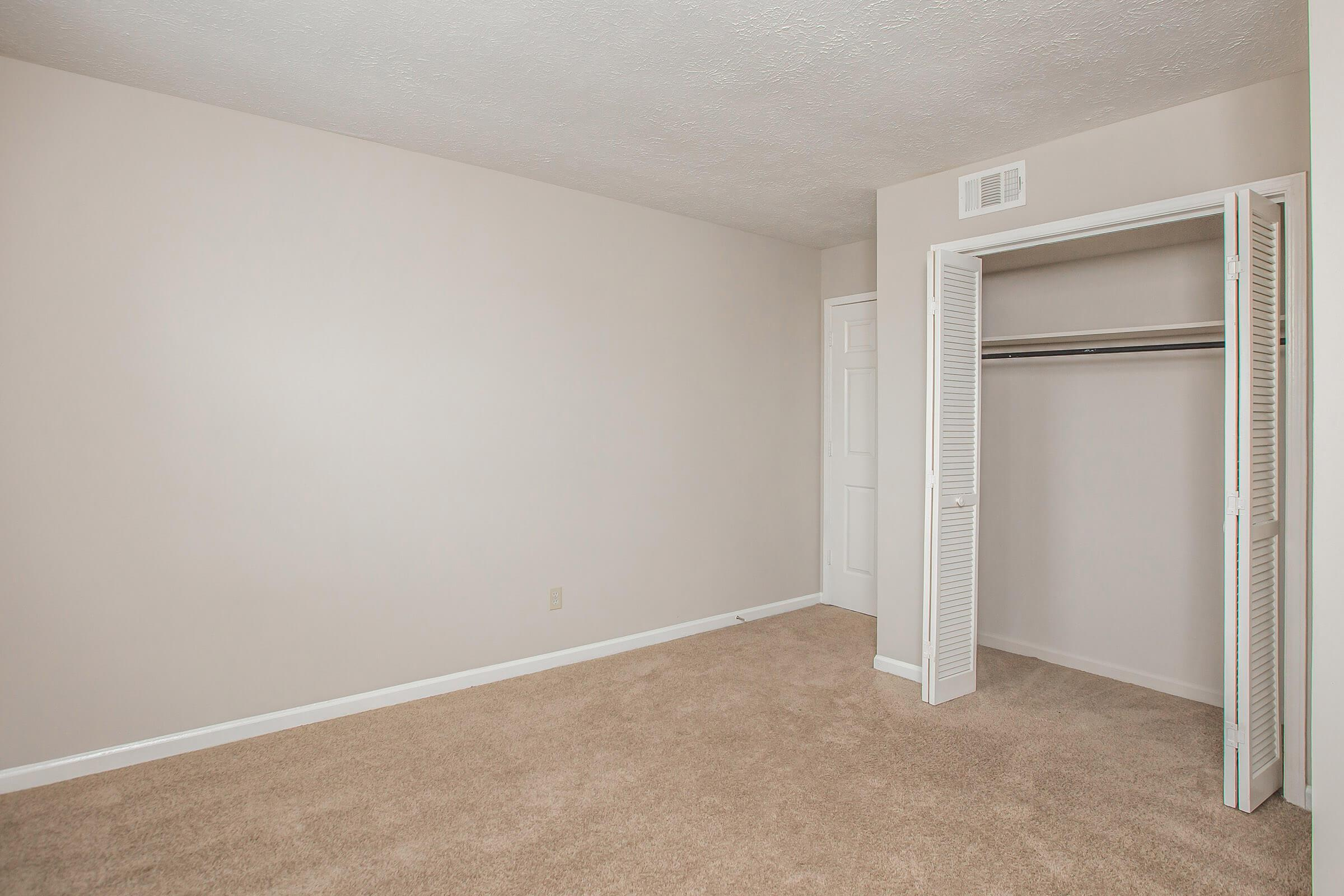 Spacious bedroom closet at British Woods Apartments