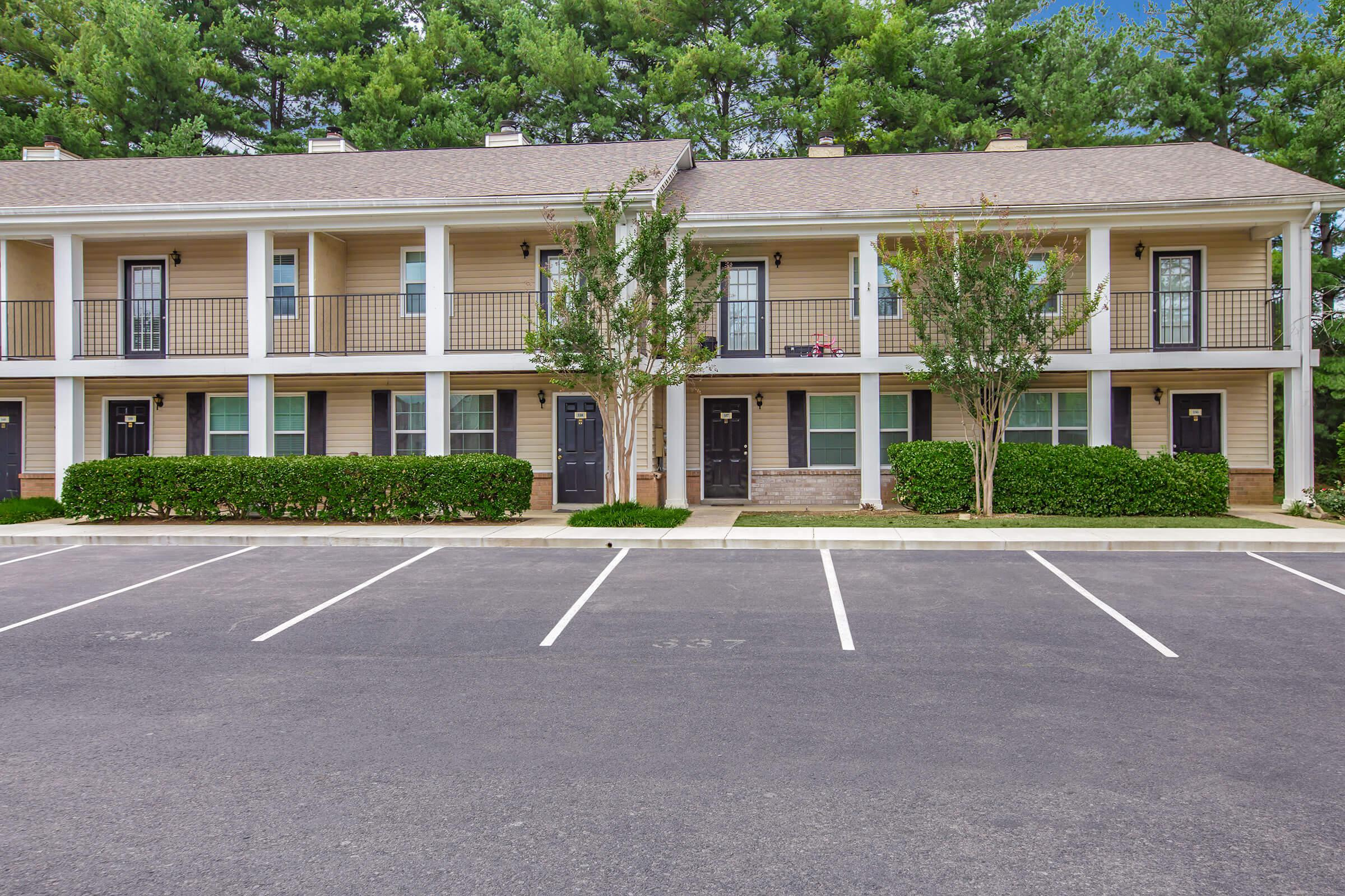Ample parking at British Woods Apartments