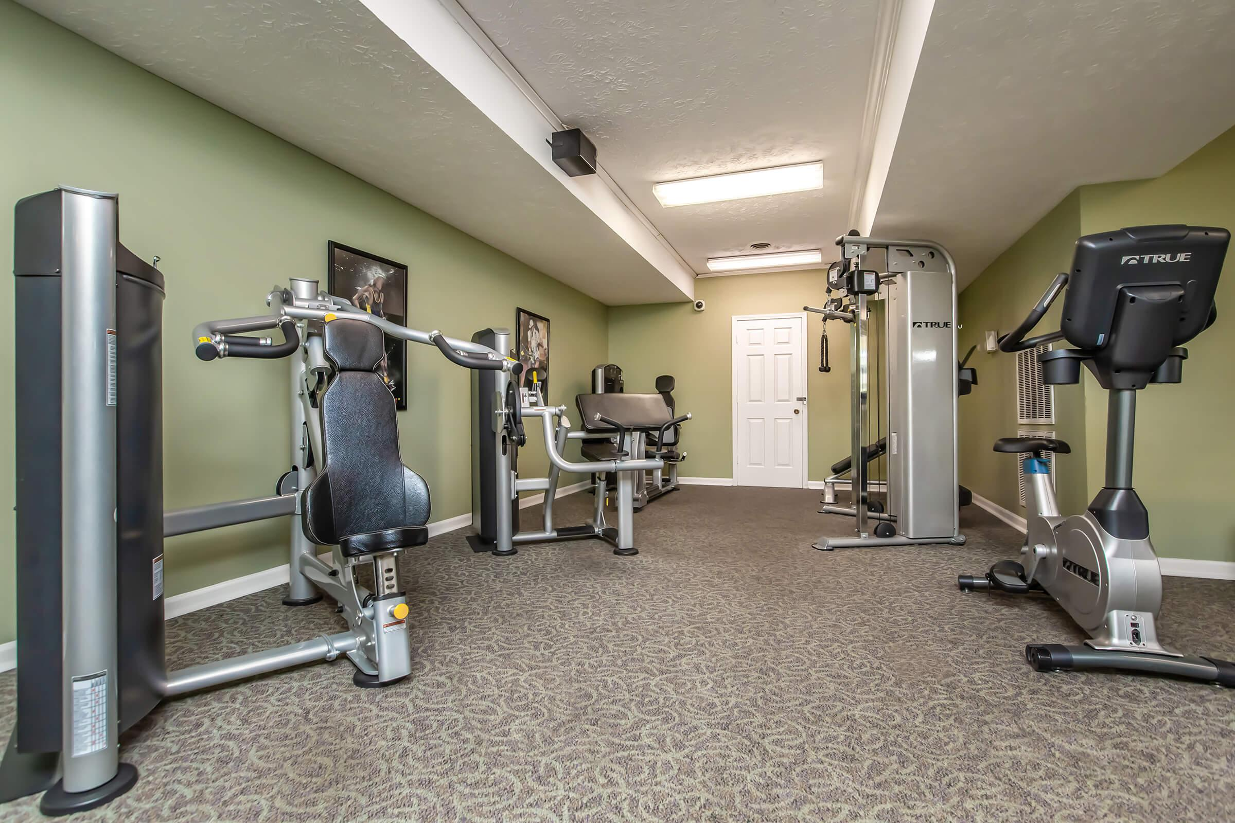State-of-the-art fitness center at British Woods Apartments