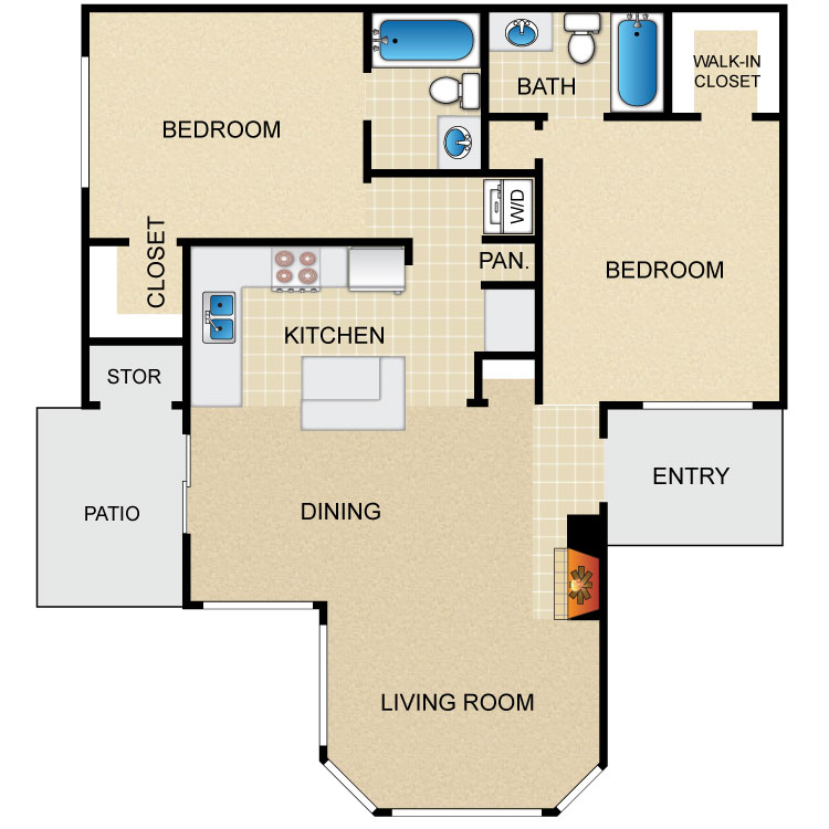 B2 floor plan image