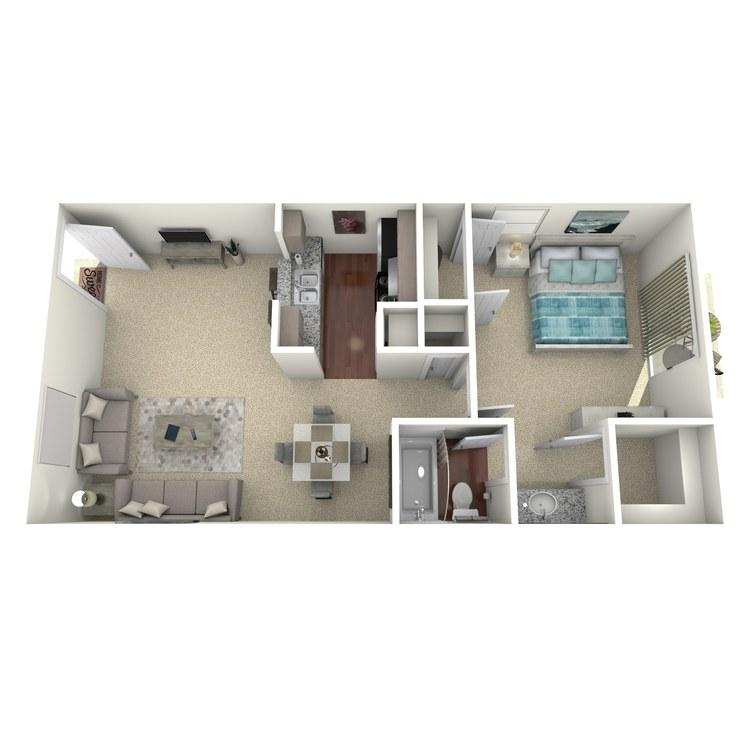 Floor plan image of Crockett
