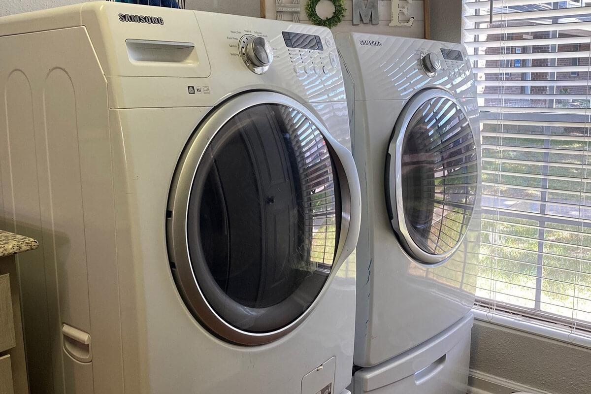 a close up of a dryer