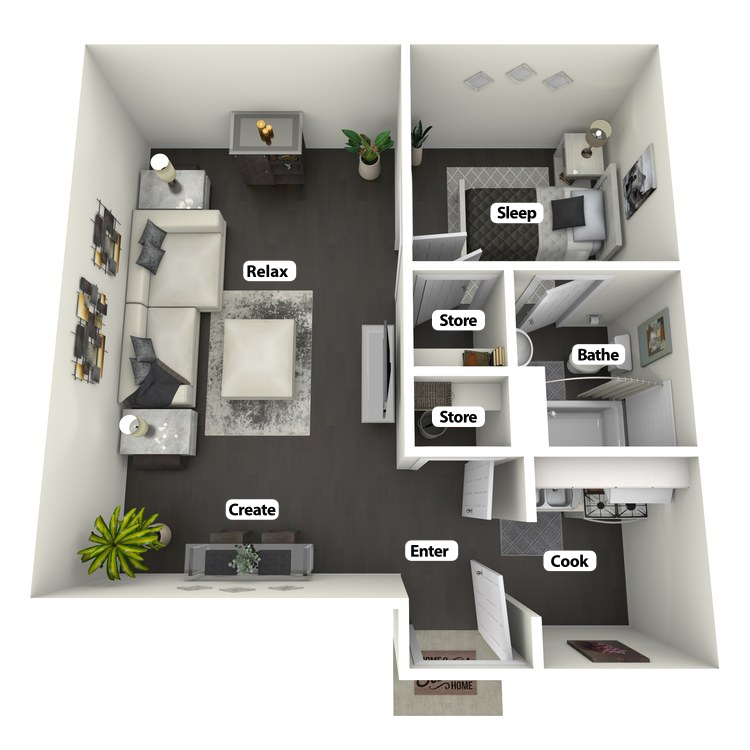 Floor plan image of Forsyth Flat
