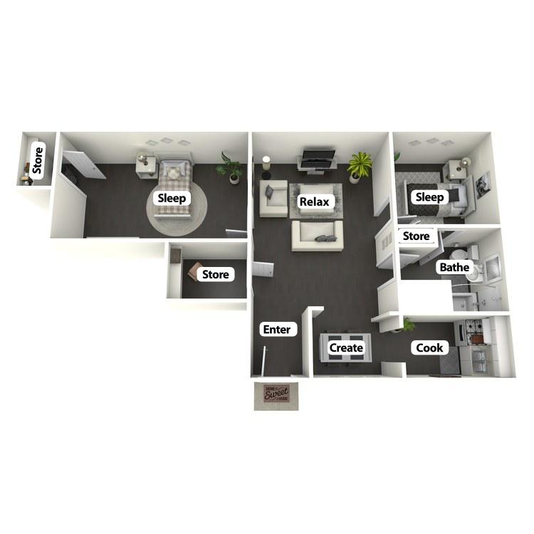 Floor plan image of James Dean Suite