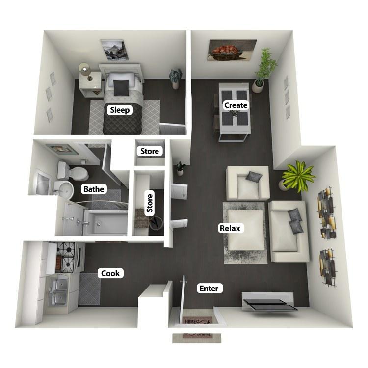 Floor plan image of J Ottis Adams Flat