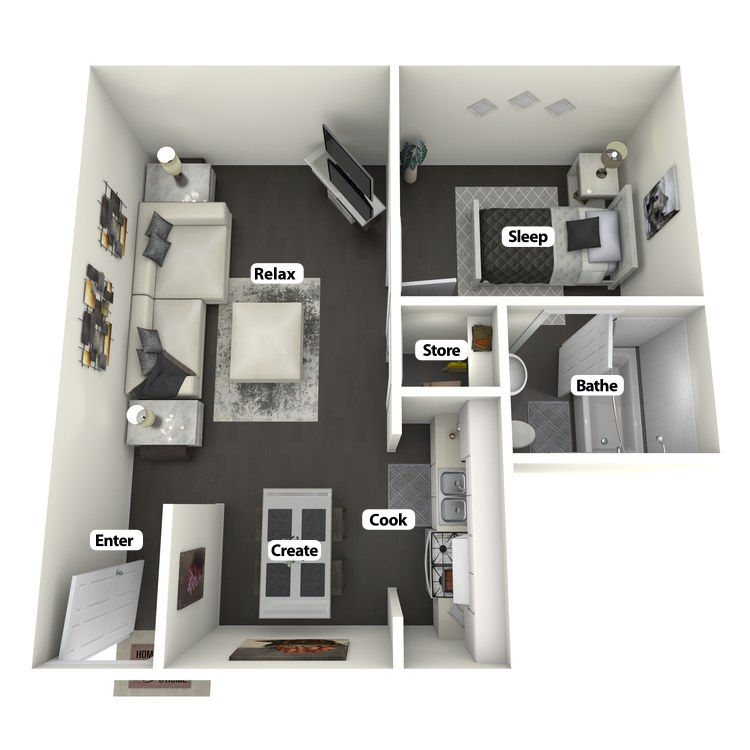 Floor plan image of Steve McQueen Flat