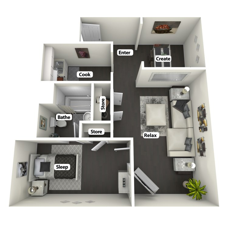 Floor plan image of Vonnegut Suite