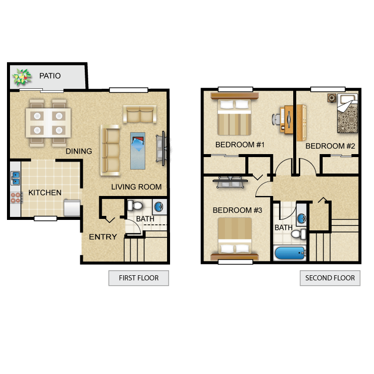 Floor plan image of The Amethyst Town Home