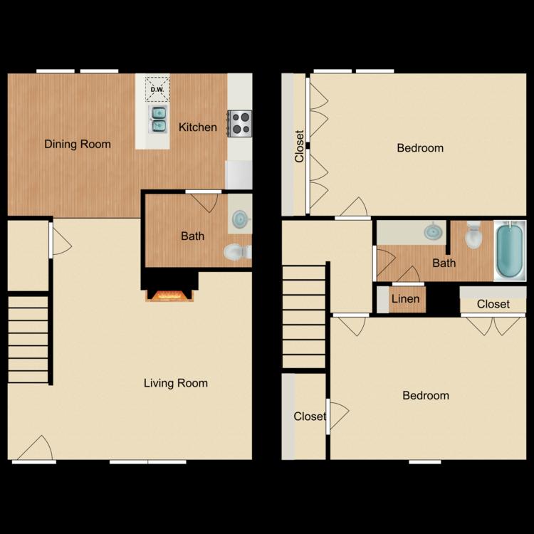 Neches floor plan image