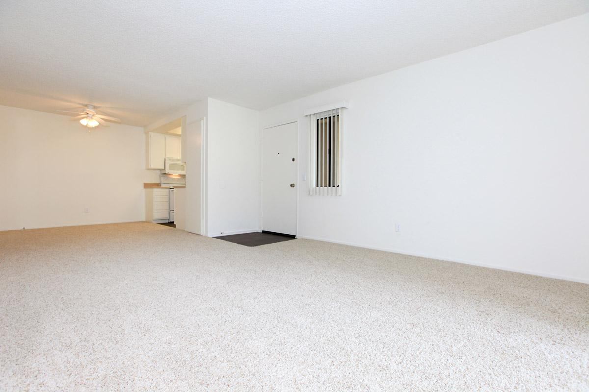 Carpeted living room