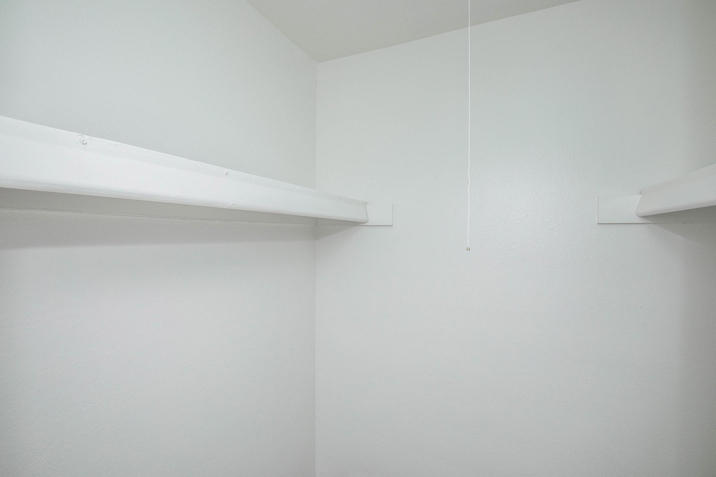 a view of a white wall
