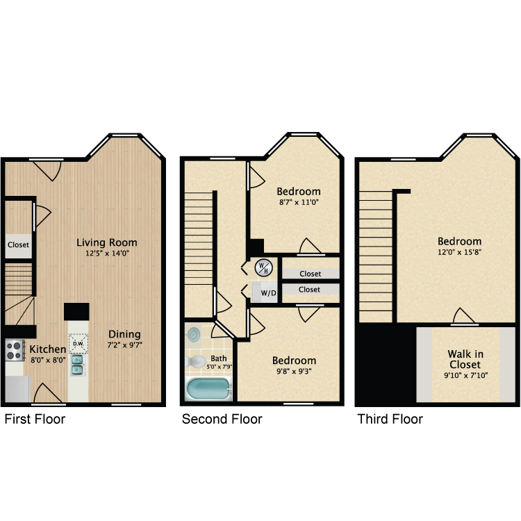 Floor plan image of 3 Bed TH