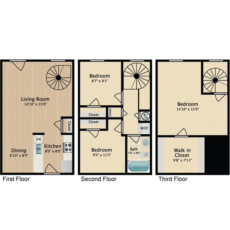 Floor plan image of 3 Bed TH Spiral