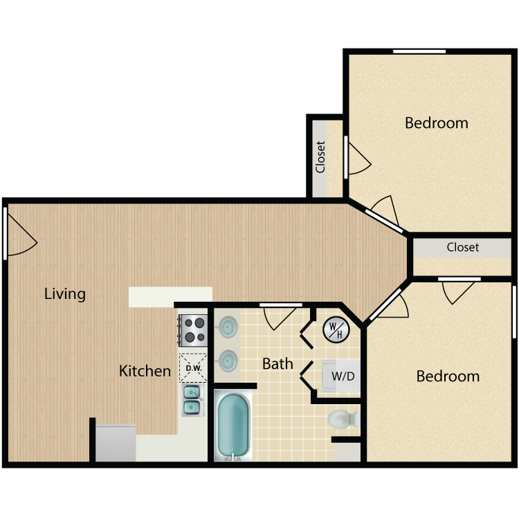 Floor plan image of 2 Bed 815