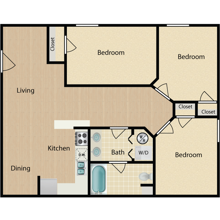 Floor plan image of Kensington 3 Bed