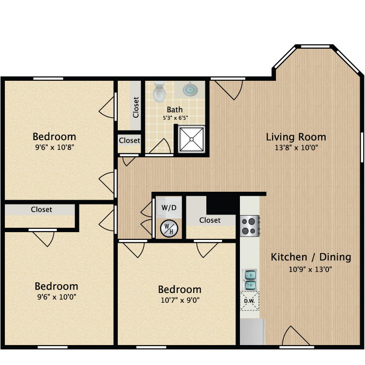 Floor plan image of 3 Bed Flat