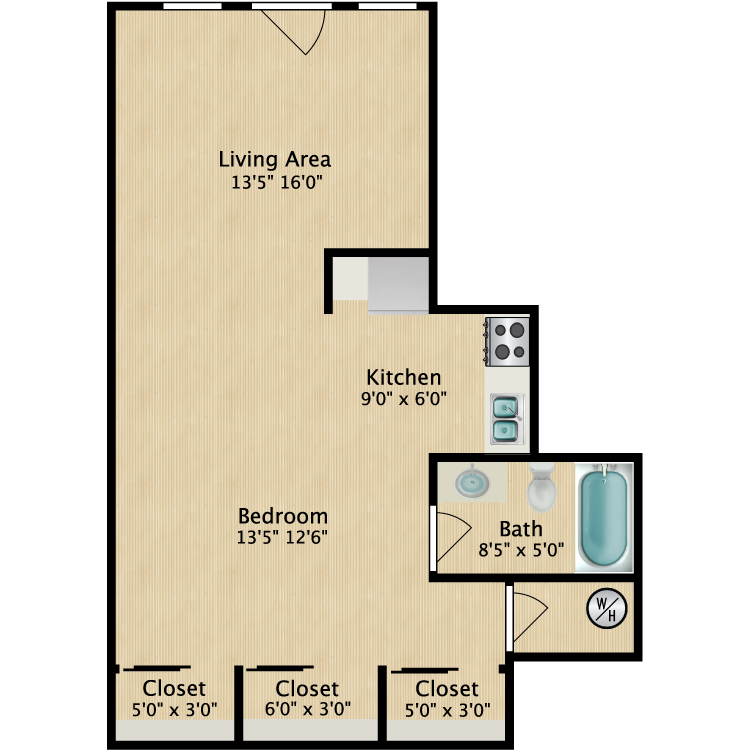 Floor plan image of Studio 801