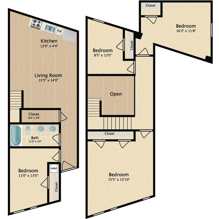 Floor plan image of 4 Bed 813