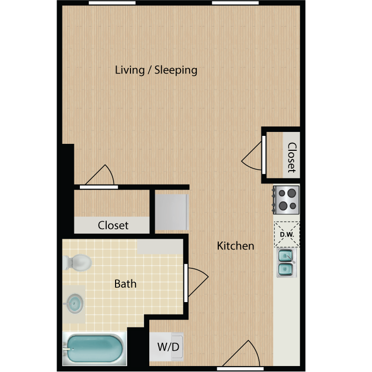 Floor plan image of Studio 408 A&B