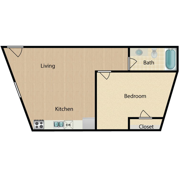 Floor plan image of 1 Bed 805