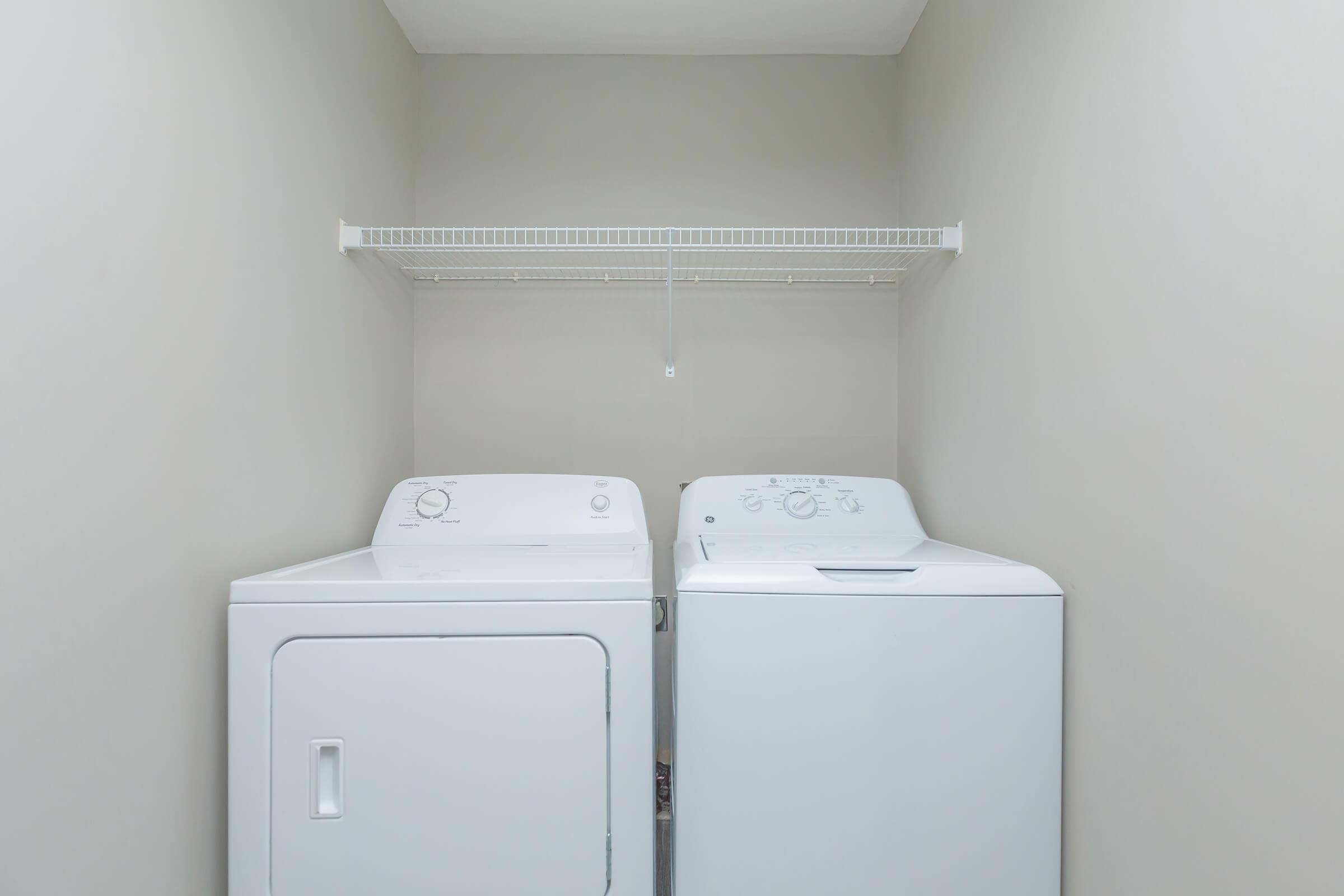 Washer and Dryer in Home at SummerTrees Apartments