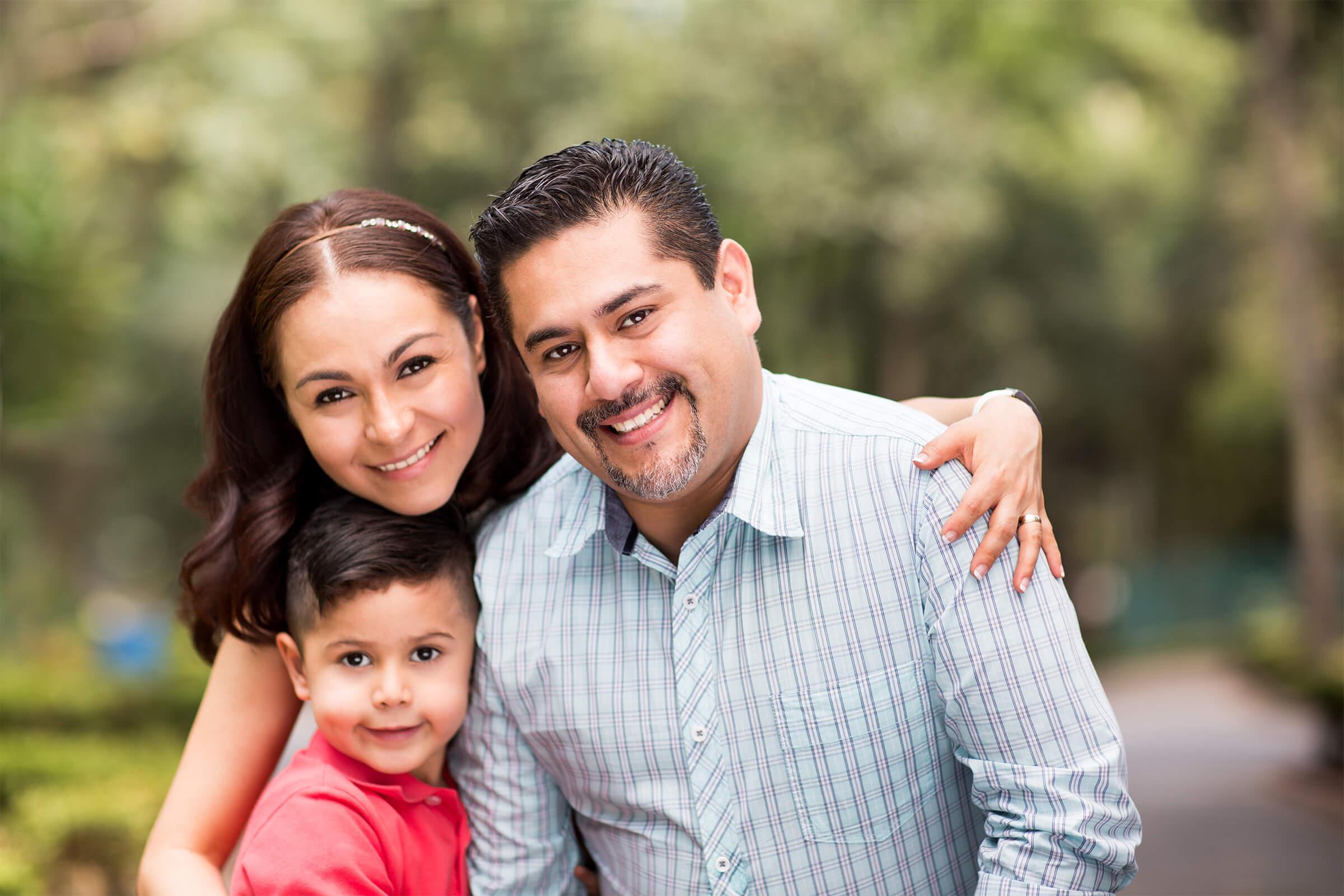 Family at Ocean Vista Apartments in Oceanside, CA