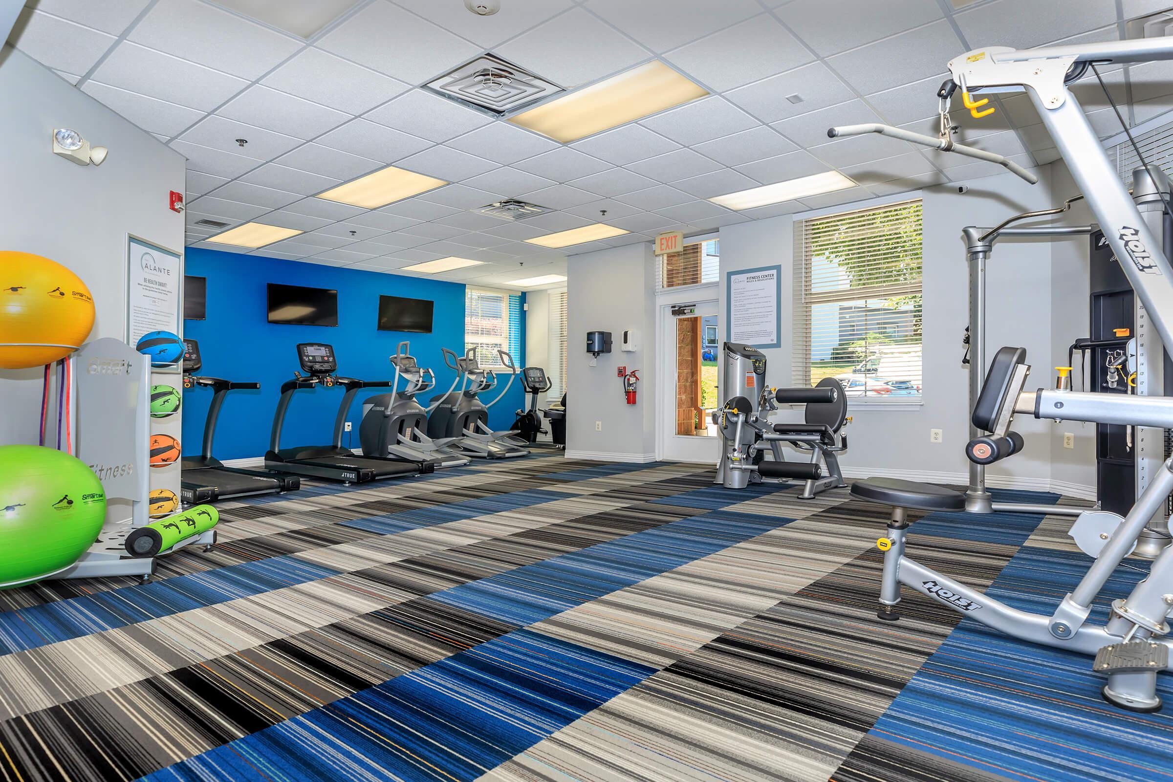 Fitness Center at The Allante Apartments in Alexandria, VA