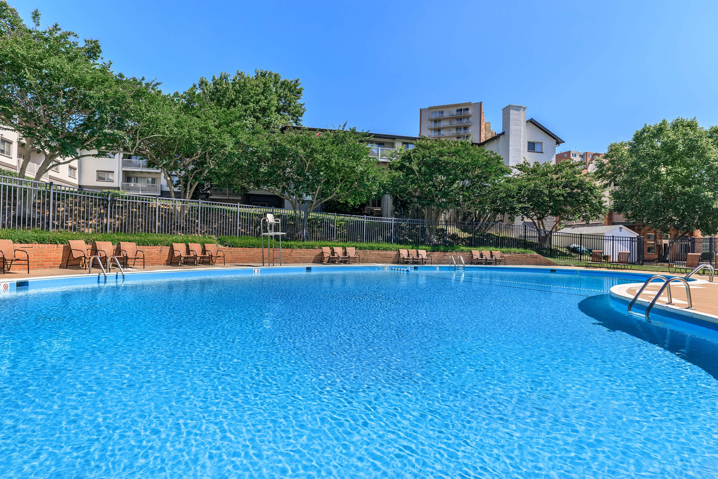Pool at The Allante Apartments in Alexandria, VA