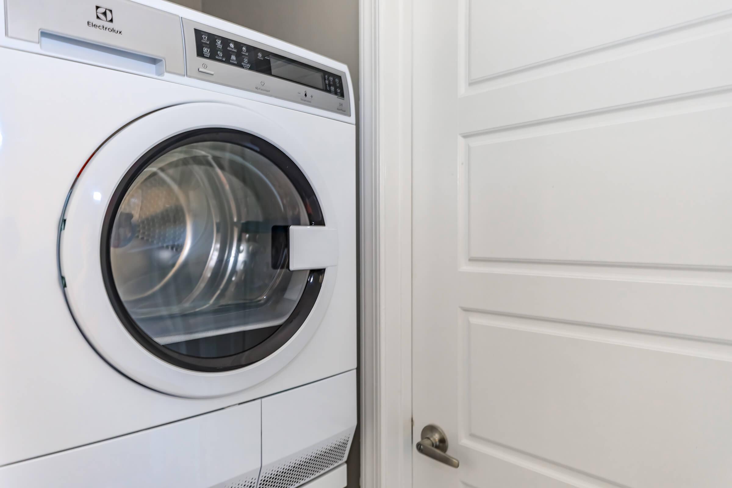Laundry room at The Allante Apartments in Alexandria, VA