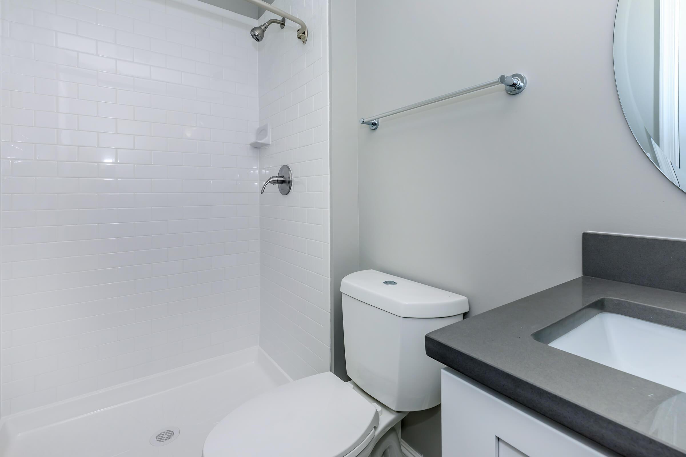 Bathroom at The Allante Apartments in Alexandria, VA