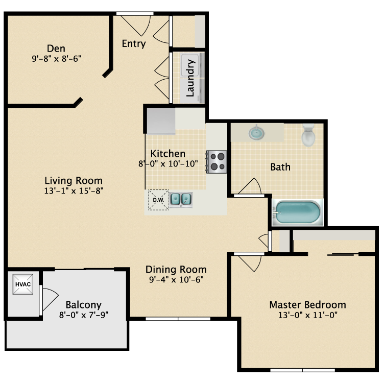 The Arden floor plan image