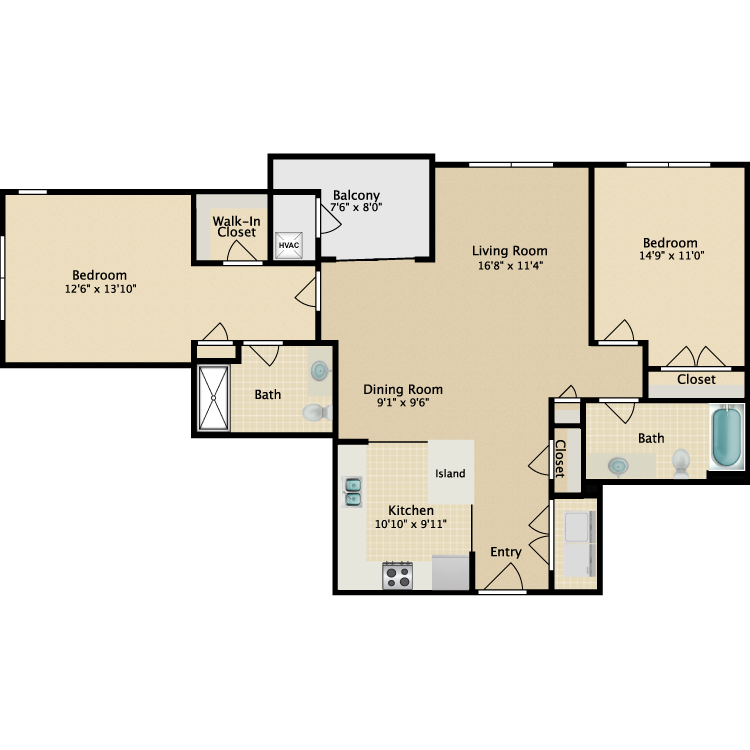 Floor plan image of The Curtis