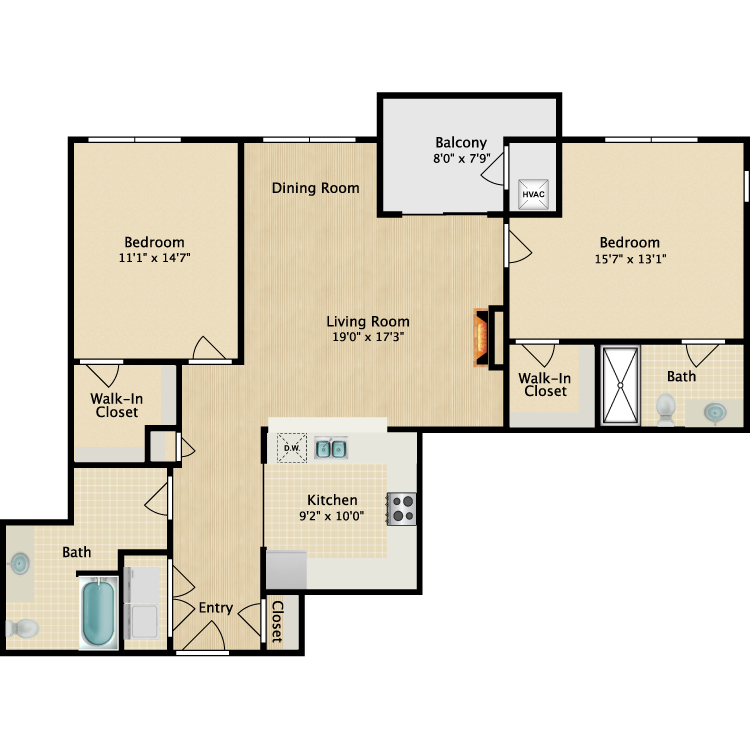The Drake floor plan image