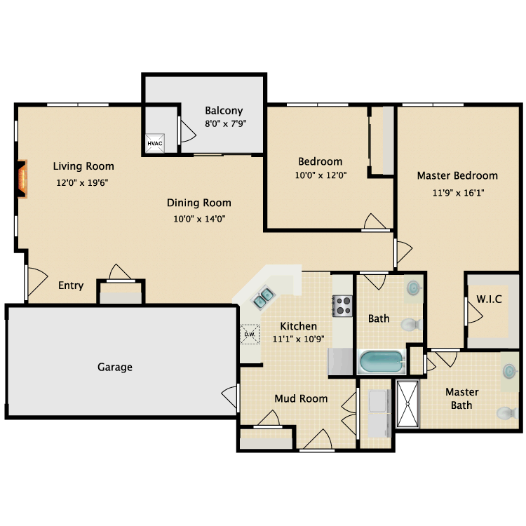 The Griffin floor plan image