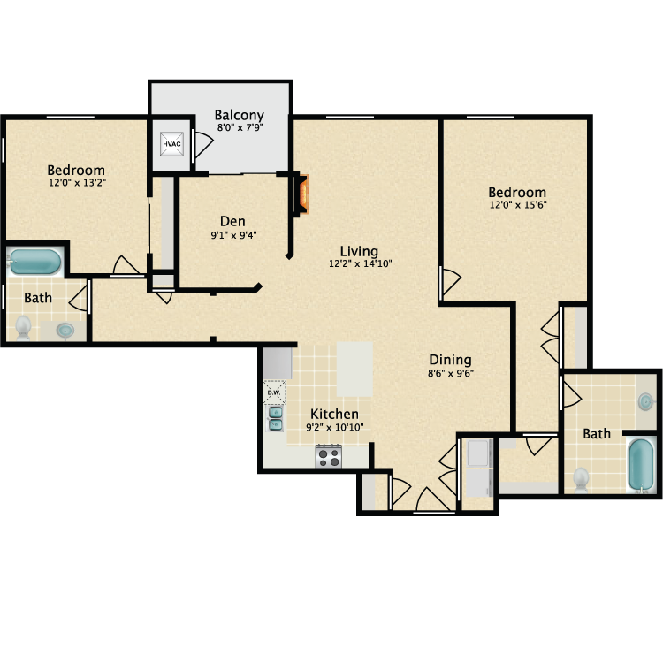 The Ensign floor plan image