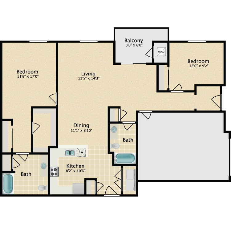 The Fuller floor plan image