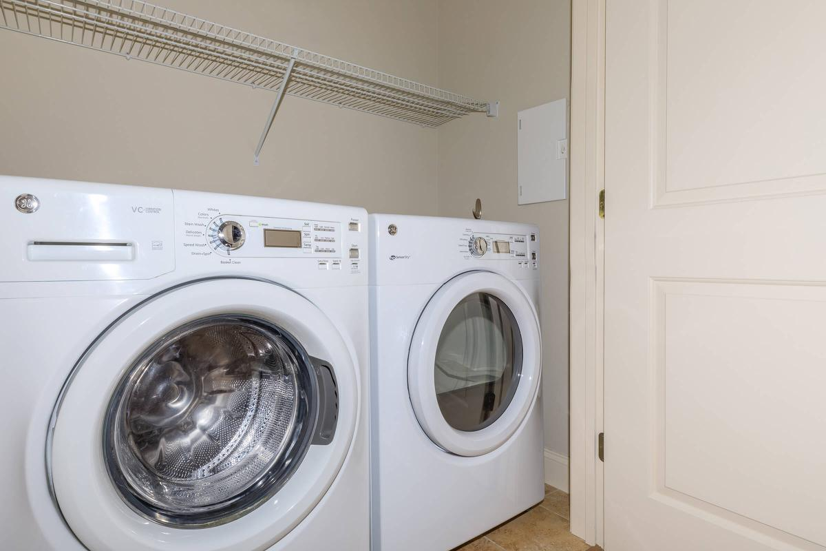 a washer in a kitchen