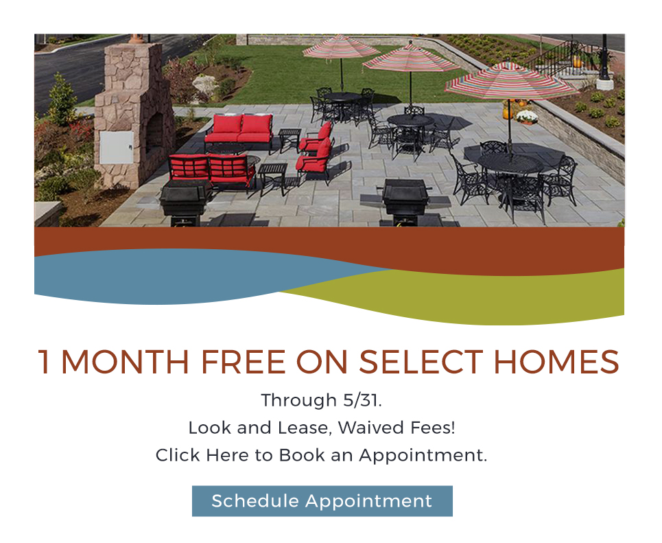 1 Month Free on Select Homes! Valid through 5/31. Look and Lease, Waived Fees! Click here to book an appointment.