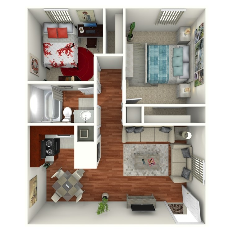 Floor plan image of 2 Bed 1 Bath Downstairs