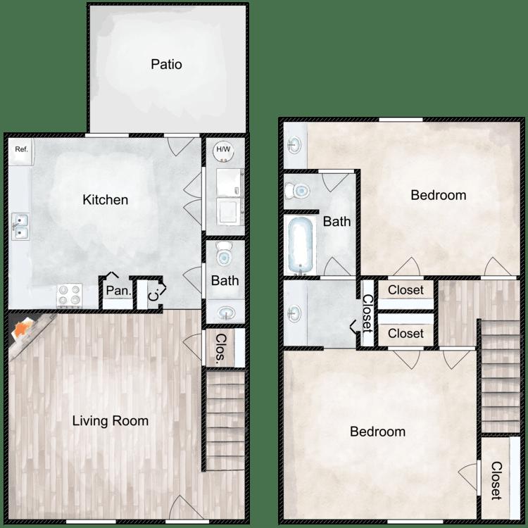 Floor plan image of Lookout