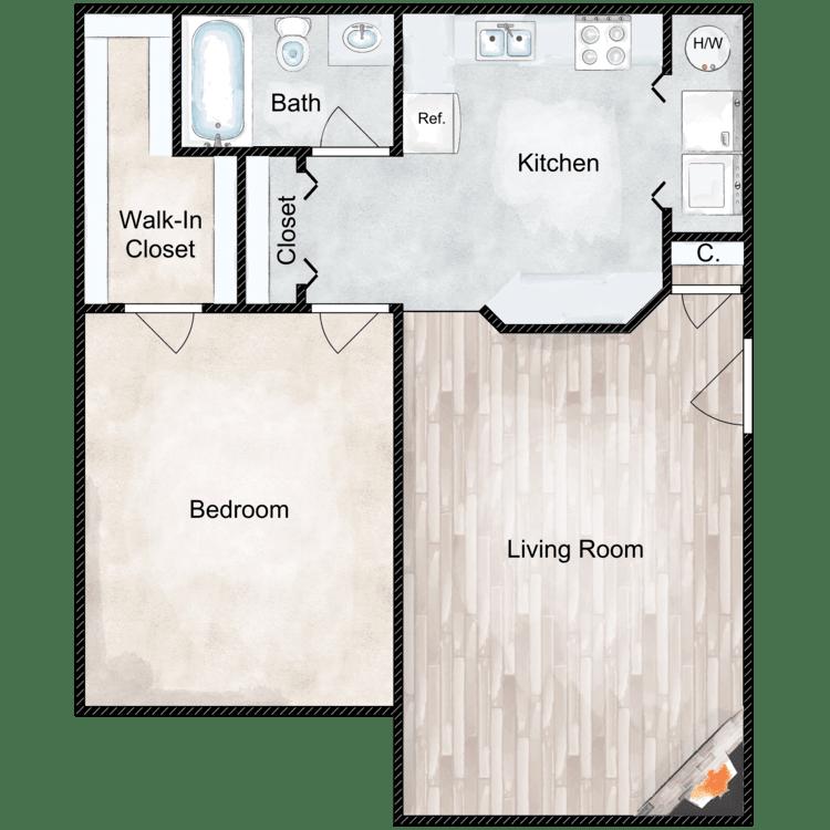 Floor plan image of White Oak