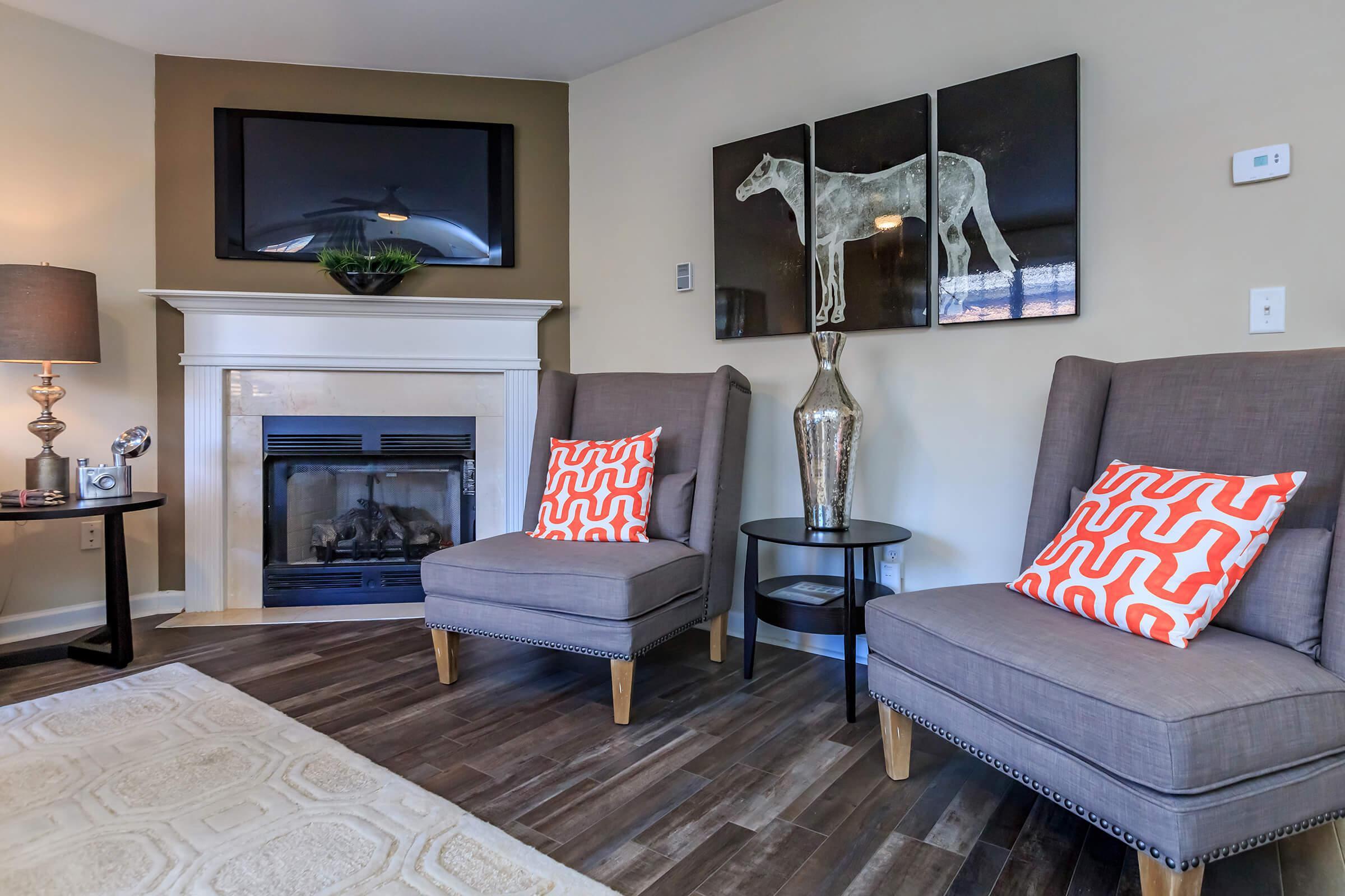 Beautiful Wood Flooring at Bluff View at Northside Apartments