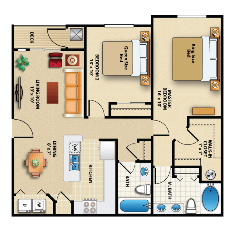Floor plan image of Two Bed
