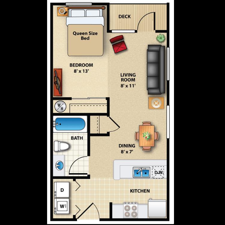 Floor plan image of Studio Exterior