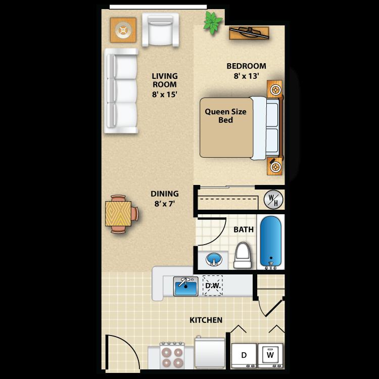 Floor plan image of Studio Interior