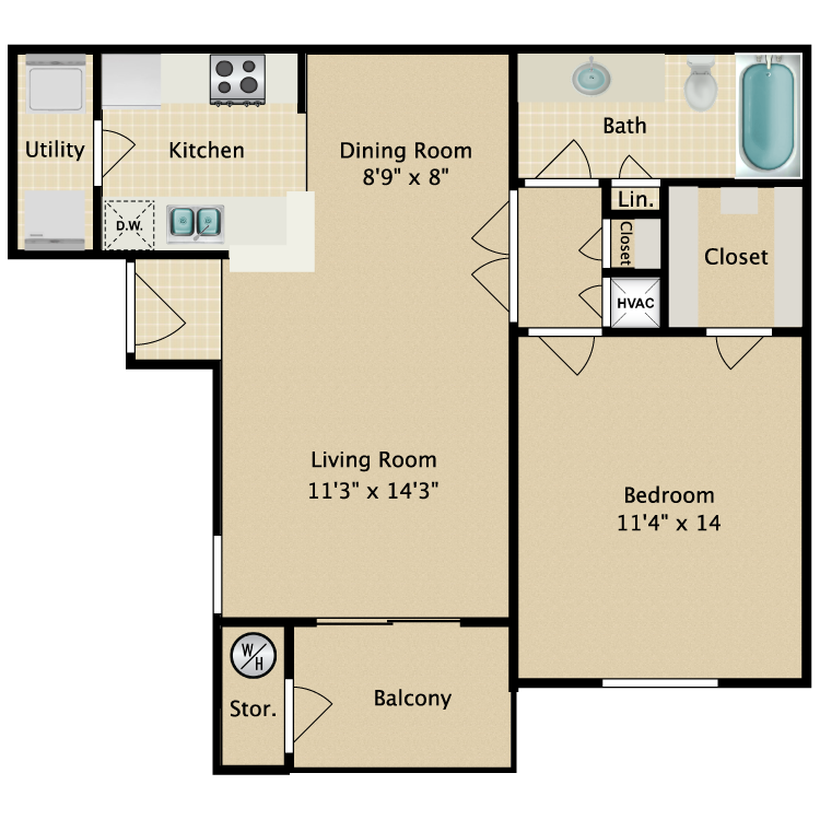 Floor plan image of Harbor C