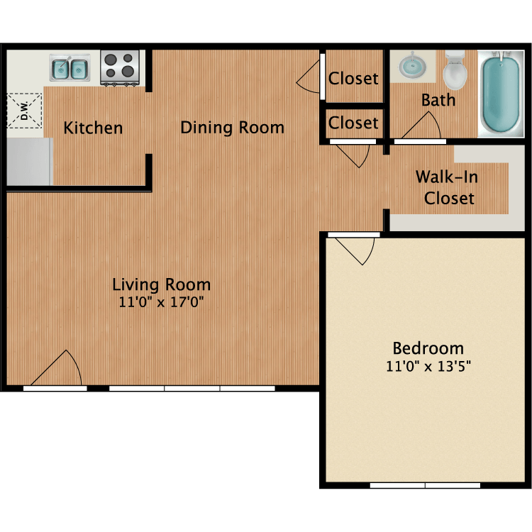 Floor plan image of The Americana