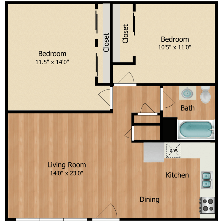 Floor plan image of The Bluebird